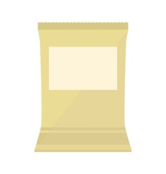 Brown blank pack vector image