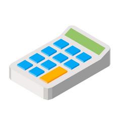 calculator three dimensional vector image vector image