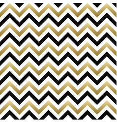 Chevron seamless pattern black gold zigzag vector