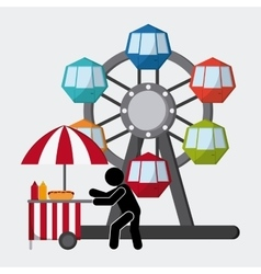Circus elements design vector