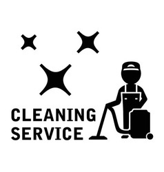 Cleaning service symbol vector