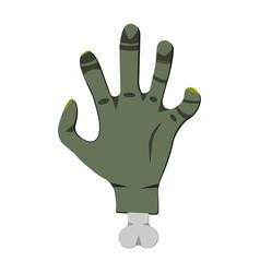 deadmans hand cartoon icon on green background vector image
