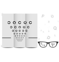 Eye Chart vector image vector image