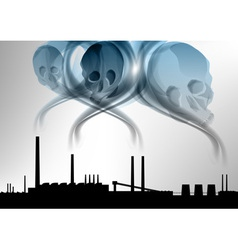 factory pollution vector image vector image
