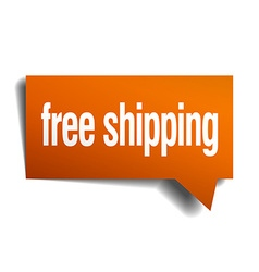 Free shipping orange speech bubble isolated on vector