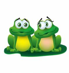 frogs in love vector image vector image