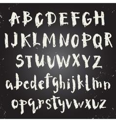 Handwritten script font vector