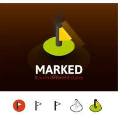 Marked icon in different style vector image vector image