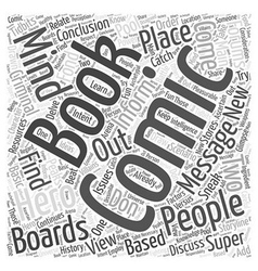 Message boards for comic books word cloud concept vector
