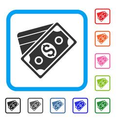 Money framed icon vector