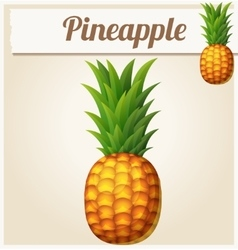 Pineapple ananas cartoon icon vector