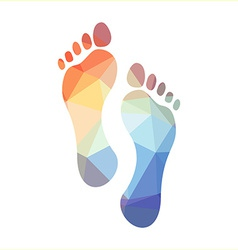 Polygonal Footprints vector image vector image