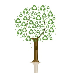 recycling sign tree vector image