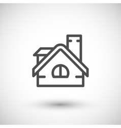 Roof line icon vector