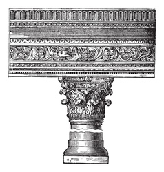 Saint john church pillar vector