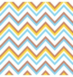 Seamless colorful chevron pattern vector image vector image