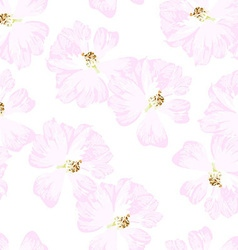 Seamless Pattern with pastel pink roses vector image vector image