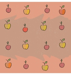 Seamless with the image of fruit apples cherries vector