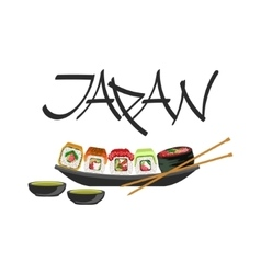 Sushi japanese culture symbol vector