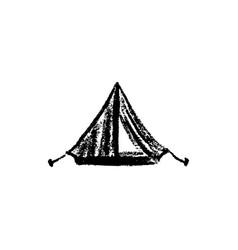 Tent icon vintage vector