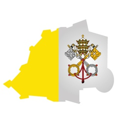 Vatican City Flag vector image vector image