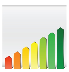chart graphs growing vector image