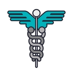 Health symbol with serpent entwined vector