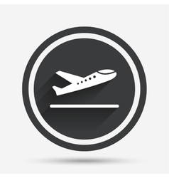 Plane takeoff icon airplane transport symbol vector