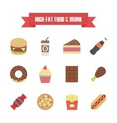 121hi fat food white vector