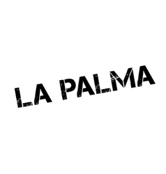 La palma rubber stamp vector