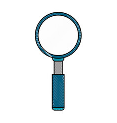 Color blurred stripe caricature magnifying glass vector