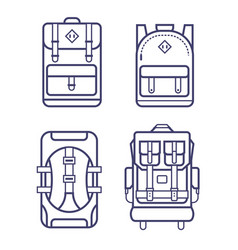Different backpacks set vector