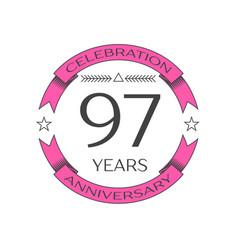 Ninety seven years anniversary celebration logo vector