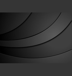 Black concept wavy abstract background vector