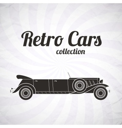 Retro limousine cabriolet car vintage collection vector