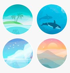 4 landscape vector image vector image