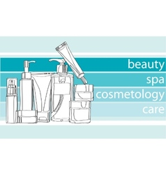 Series care cosmetics vector