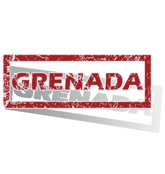 Grenada outlined stamp vector