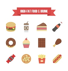 121hi fat food white vector