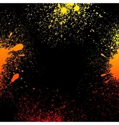 Colorful yellow orange and red grungy gradient vector