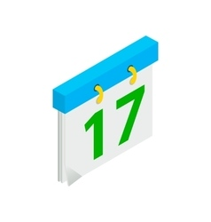 Calendar with st patrick day date isometric icon vector