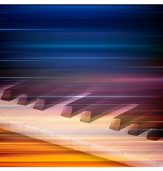 abstract blur music background with piano keys vector image