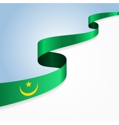 Mauritanian flag background vector