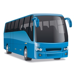 blue city bus vector image