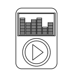 Music player with earphones vector
