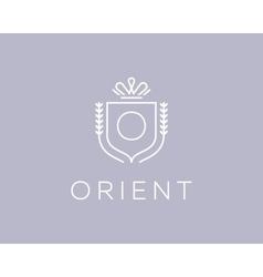 Elegant monogram letter o logotype premium crest vector