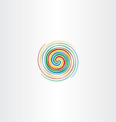 abstract colorful spiral tornado icon background vector image