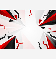 abstract triangle black and red color with copy vector image