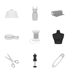 Atelie set icons in monochrome style Big vector image vector image