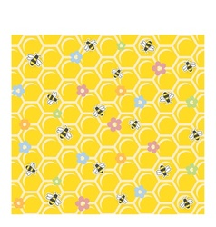 Bee on honeycomb Seamless vector image vector image